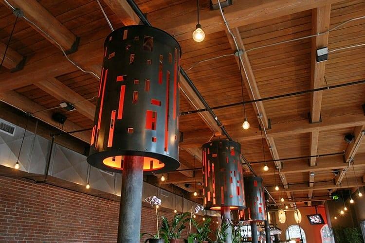 nara-restaurant-steel-lamp-shades